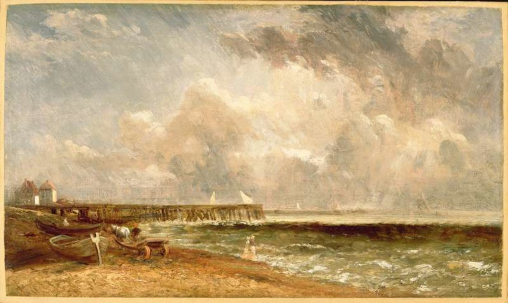 Detail of Yarmouth Jetty, c.1822 by John Constable
