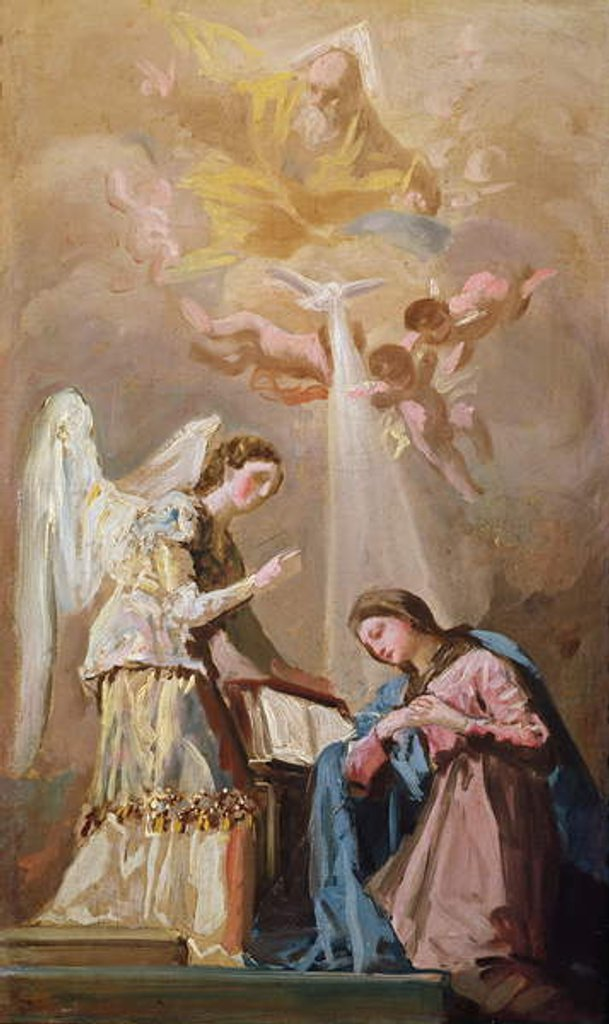 Detail of The Annunciation by Francisco Jose de Goya y Lucientes