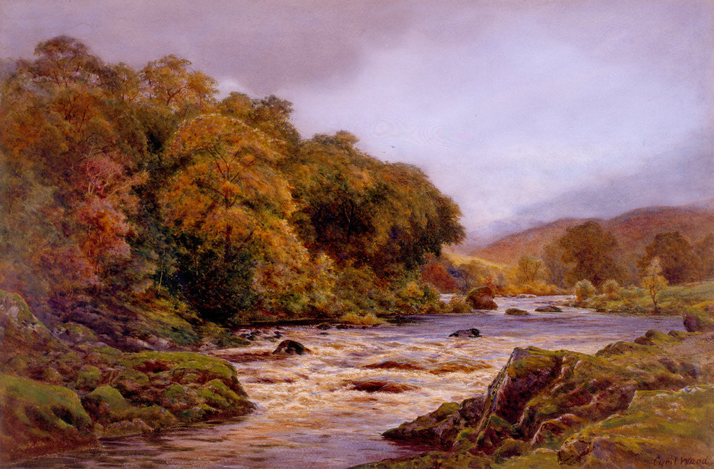 Detail of An Autumn Stream by Cyril Ward