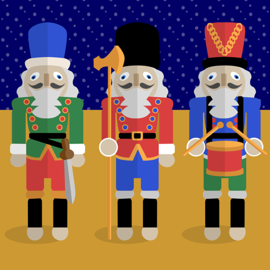 Christmas Nutcrackers - Good Luck Symbols posters & prints by Claire ...
