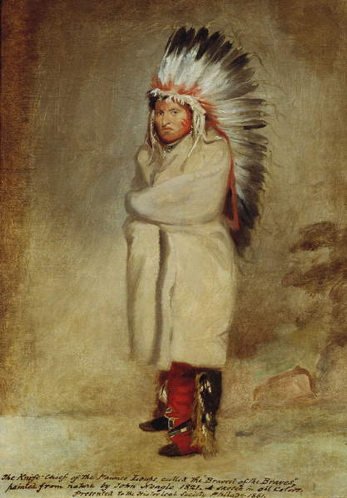 Detail of Knife Chief of the Pawnee Loups, 1821 by John Neagle