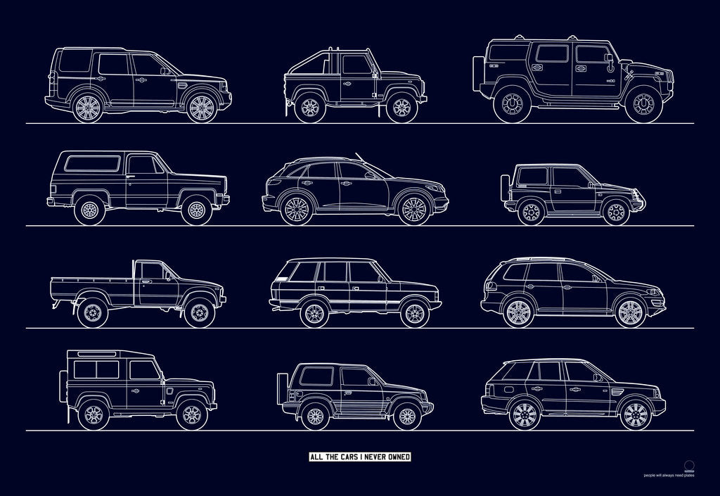 Detail of All the cars I (n)ever owned - 4x4s by People Will Always Need Plates