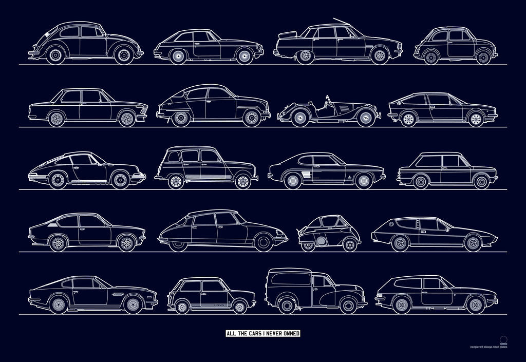 Detail of All the cars I (n)ever owned - classics by People Will Always Need Plates
