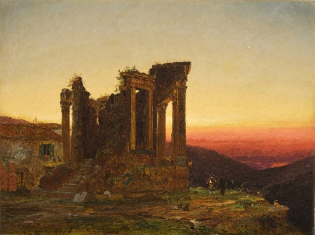 Detail of Temple of the Sibyl, Tivoli, 1876 by Jasper Francis Cropsey