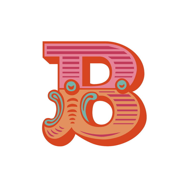 Letter B White Background Posters Amp Prints By Magnolia Box