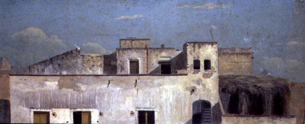 Detail of Rooftops in Naples, 18th century by Thomas Jones