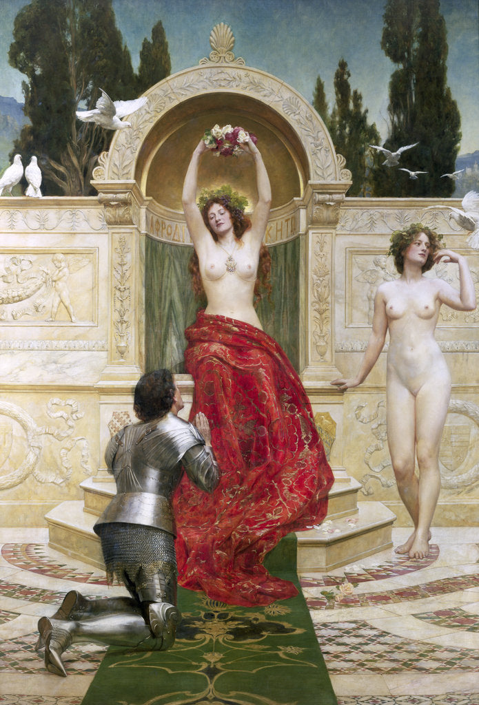 Detail of In the Venusburg, 1901 by John Collier