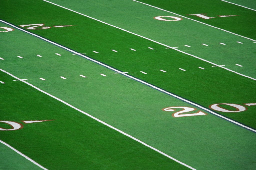 Detail of Football Field by Corbis