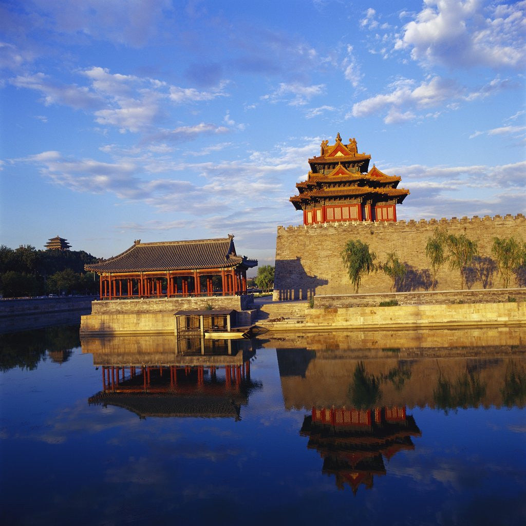 Detail of Corner Tower of Forbidden City by Corbis