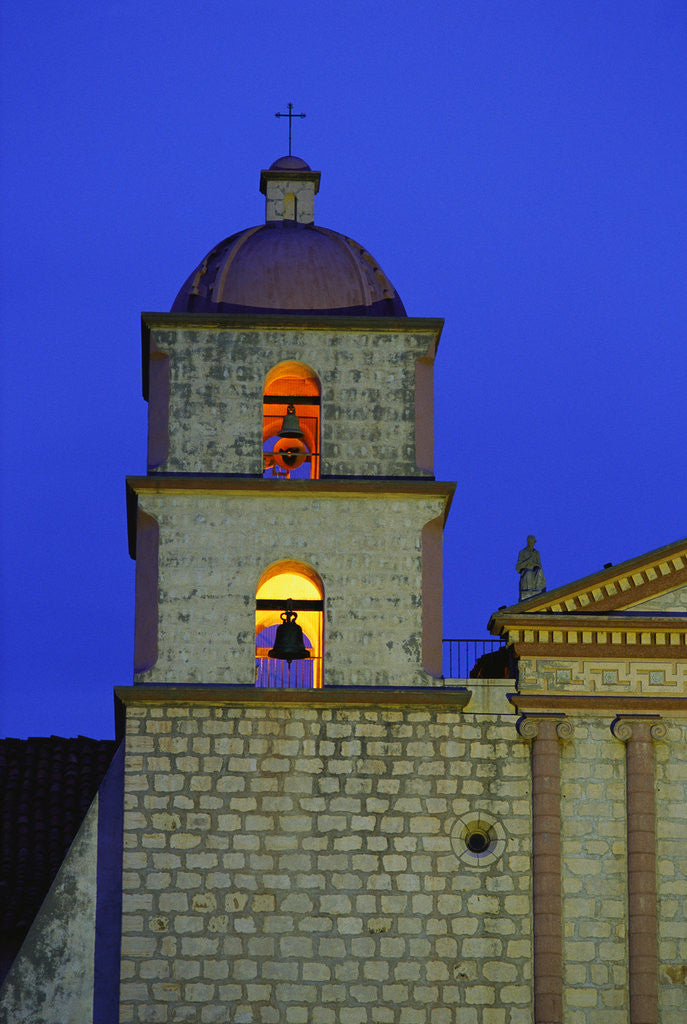Detail of Bell Tower of the Santa Barbara Mission Church by Corbis