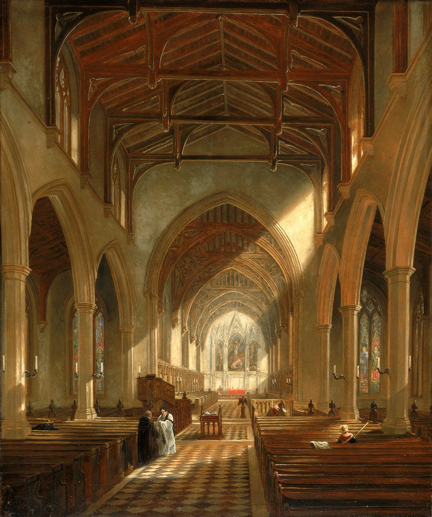 Detail of Interior of St Peter's Church, Newcastle upon Tyne by John Wilson Carmichael