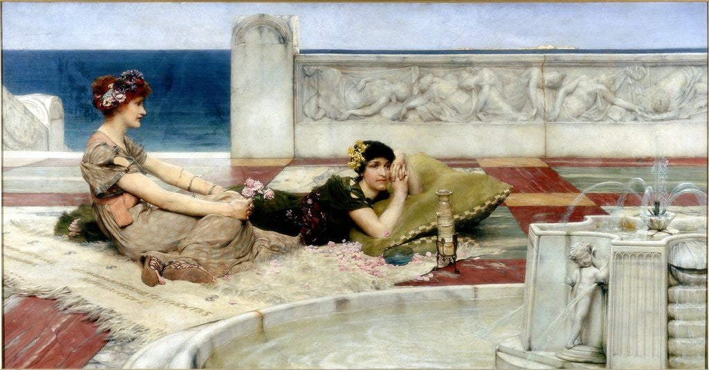 Detail of Love in Idleness by Sir Lawrence Alma-Tadema