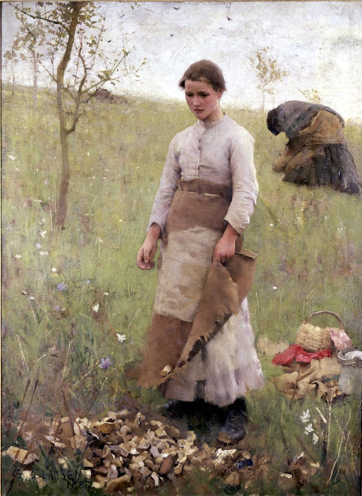 Detail of The Stone Pickers by Sir George Clausen