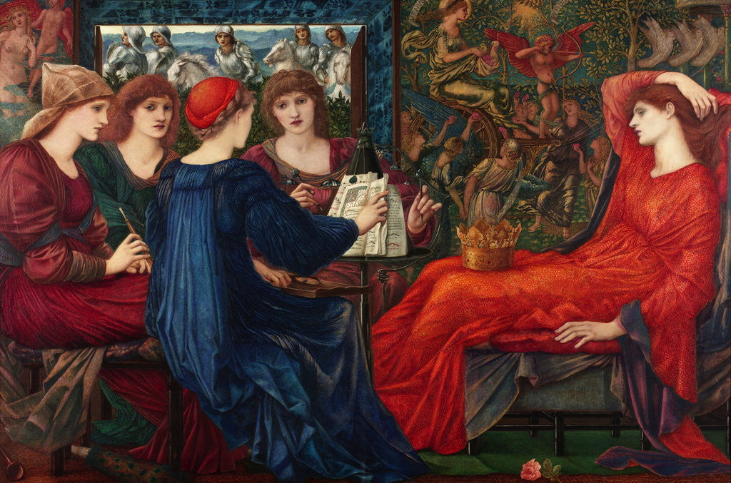 Detail of Laus Veneris by Sir Edward Coley Burne-Jones
