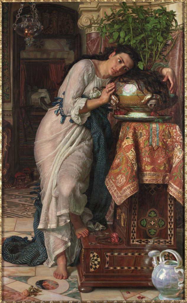 Detail of Isabella and the Pot of Basil by William Holman Hunt