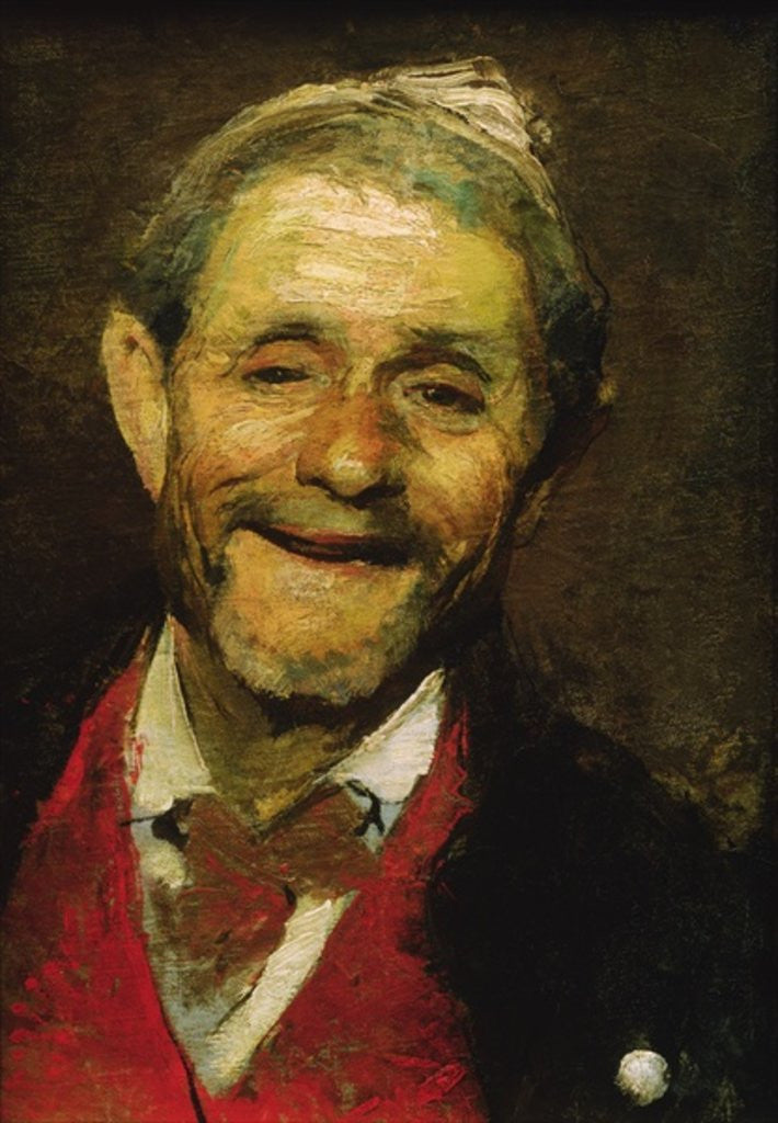 Detail of Old Man Laughing by A Beridze