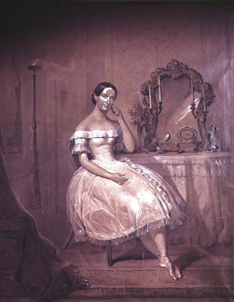 Detail of Ballerina in 19th Century Ballet by Anonymous