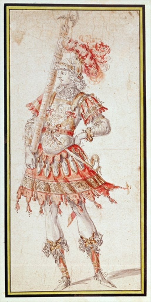 Detail of Costume design for Carousel by Henry Gissey