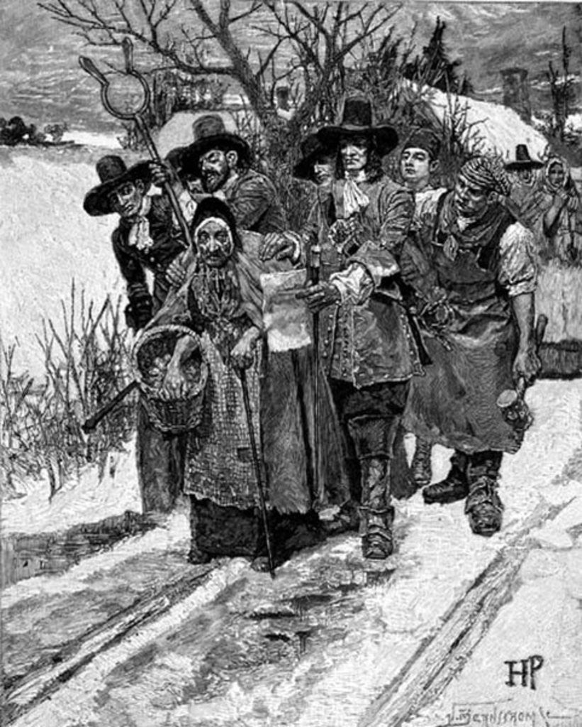 Detail of Arresting a Witch by Howard Pyle