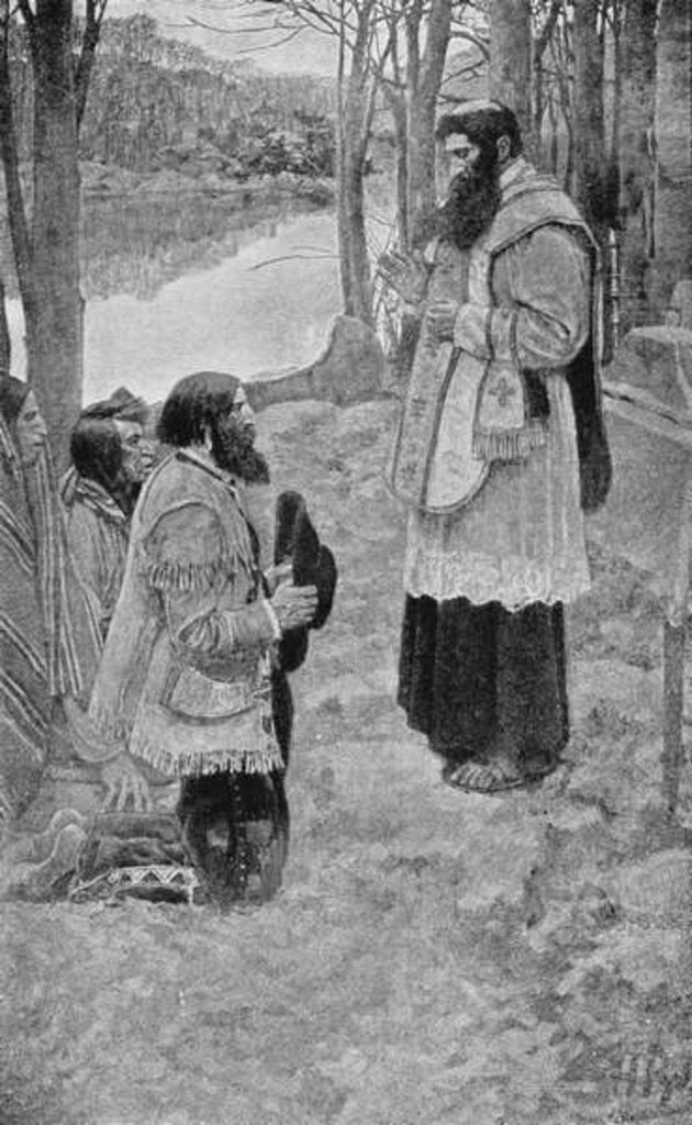 Detail of Father Hennepin Celebrating Mass by Howard Pyle