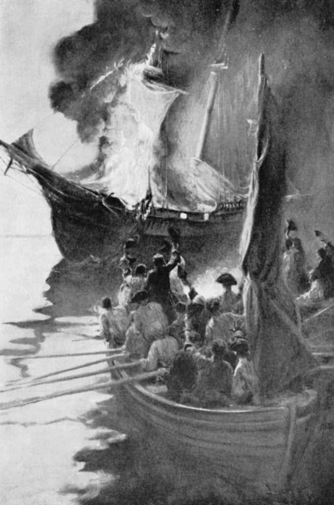 Detail of Burning of the 'Gaspee' by Howard Pyle