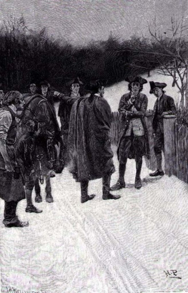 Detail of Paul Revere Bringing News to Sullivan, engraved by F.H. Wellington by Howard Pyle