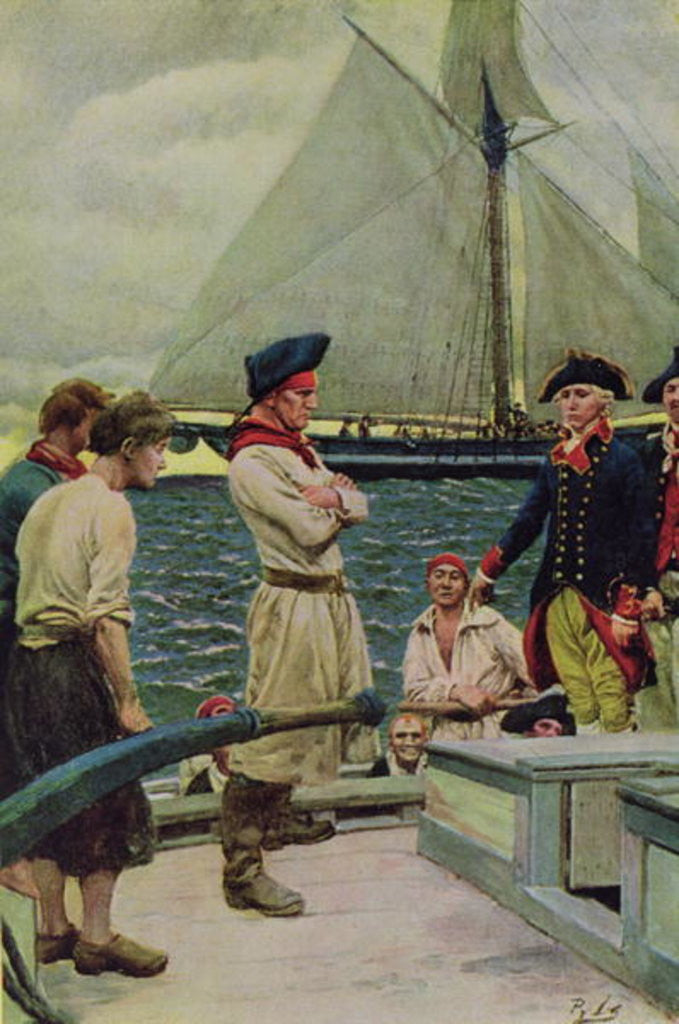 Detail of An American Privateer Taking a British Prize by Howard Pyle