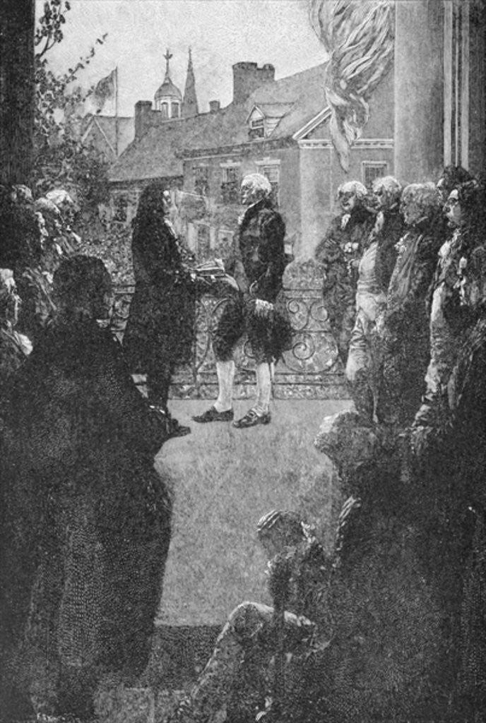 Detail of The Inauguration, engraved by Francis Scott King by Howard Pyle