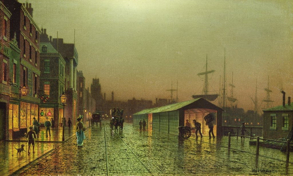 Detail of Liverpool Docks by John Atkinson Grimshaw