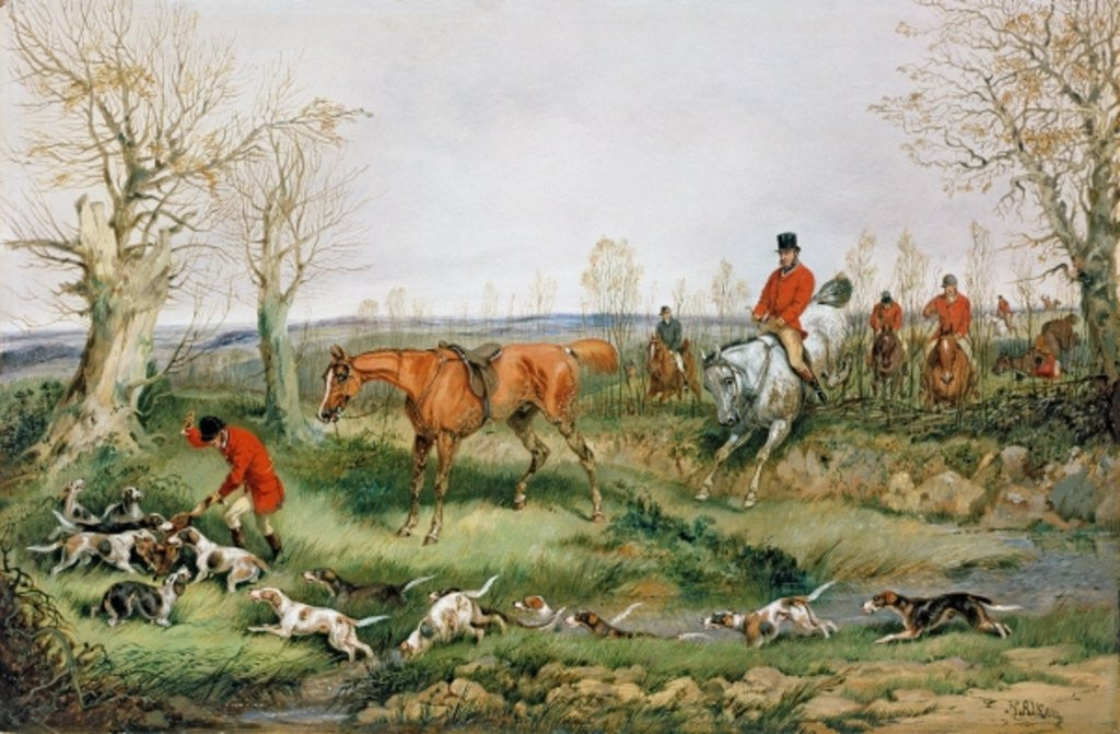 Detail of Hunting Scene by Henry Thomas Alken