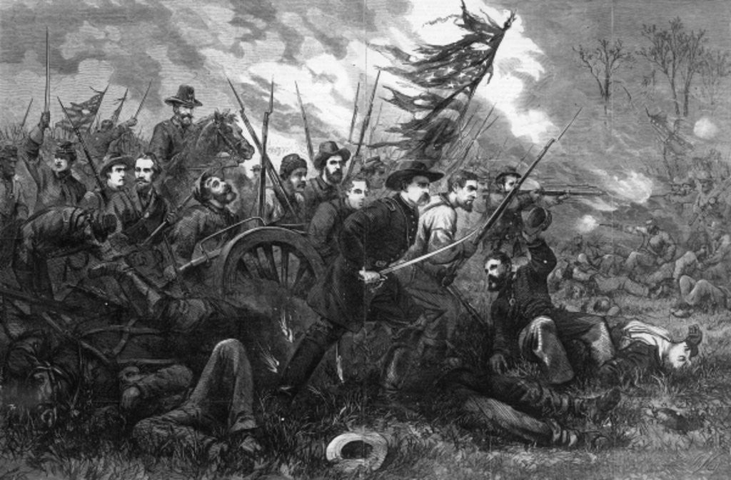 Detail of The Campaign in Virginia - 'On to Richmond' by Thomas Nast