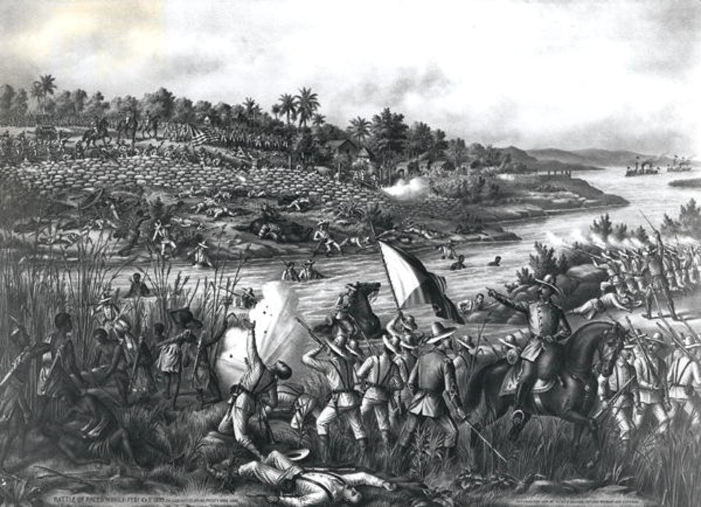 Detail of Battle of Paceo (Manila) by American School