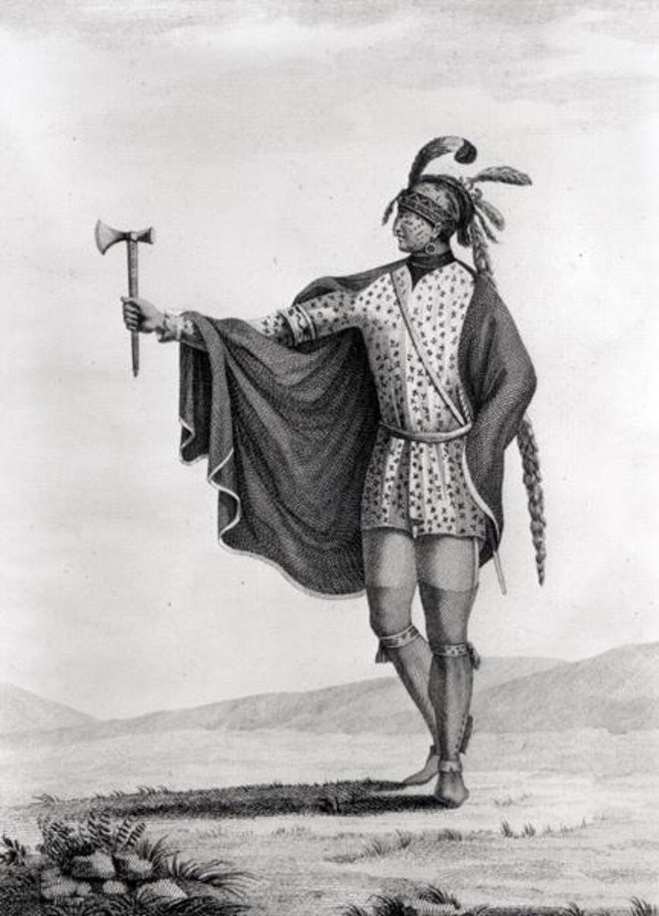 Detail of Indian of the Nation of Kaskaskia by French School
