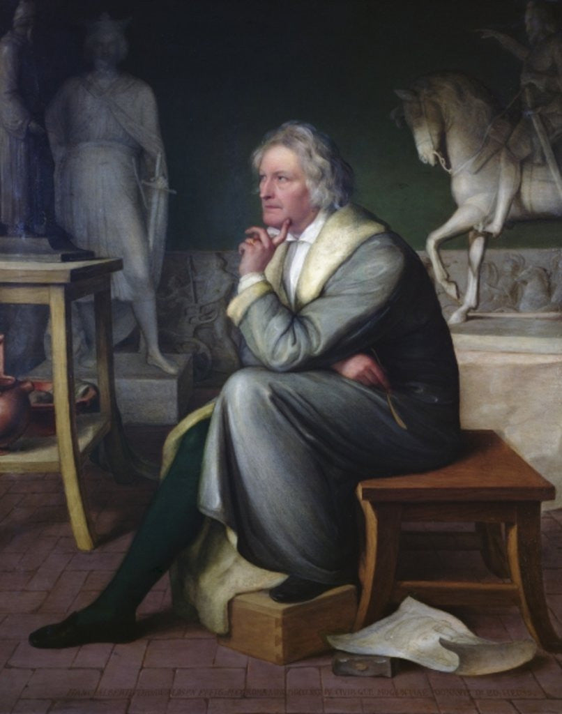 Detail of Bertel Thorvaldsen in his studio at Rome by Eduard von Heuss