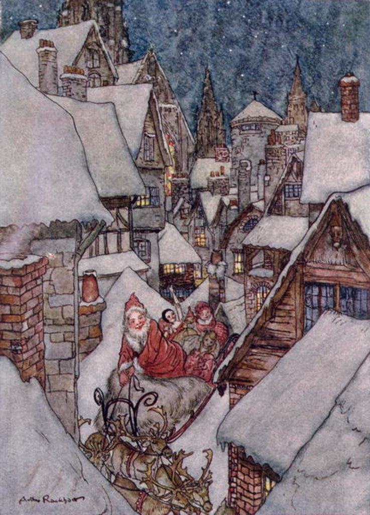 Detail of Christma by from 'The Night Before Christmas' by Clement C. Moore