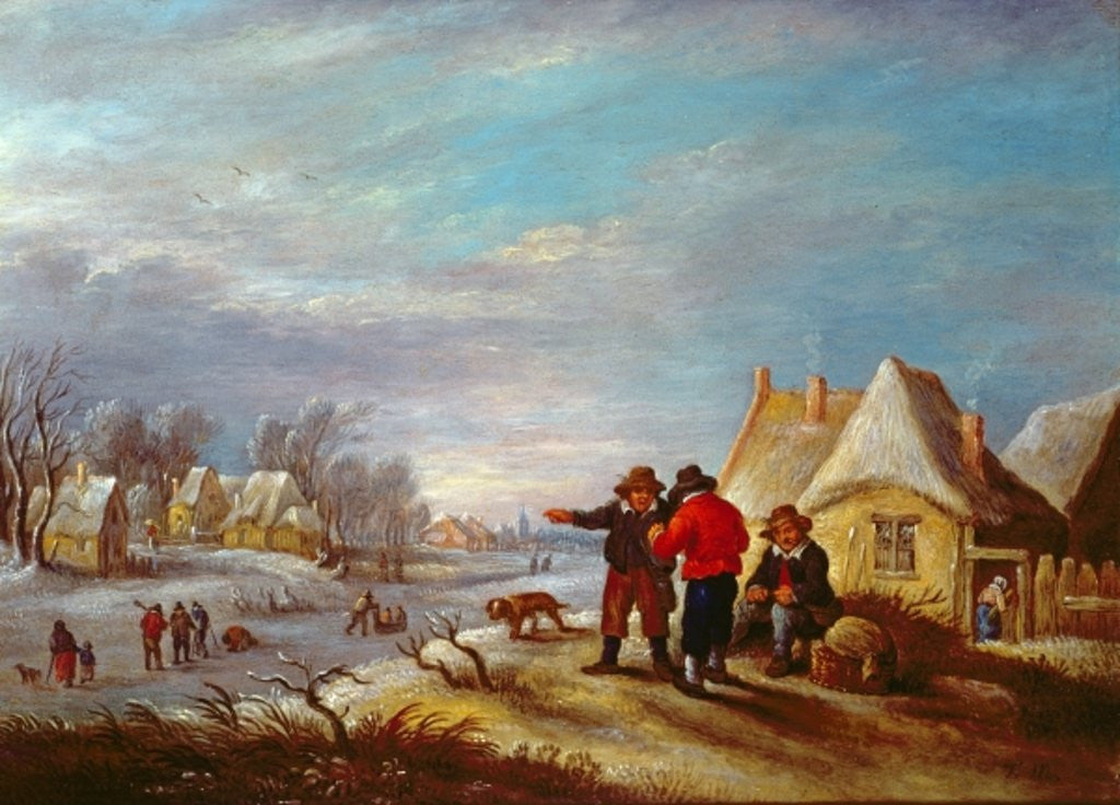 Detail of Late winter in Flanders by Theobald Michau