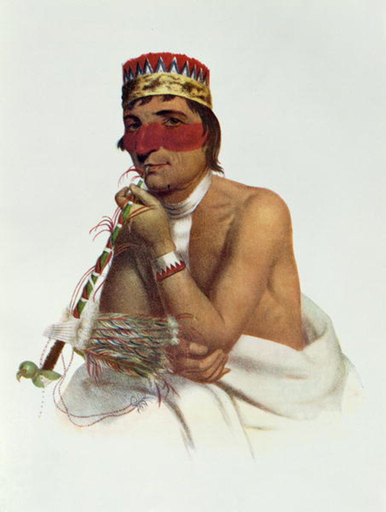 Detail of Wa-Em-Boesh-Kaa, a Chippeway Chief from Sandy Lake by James Otto Lewis