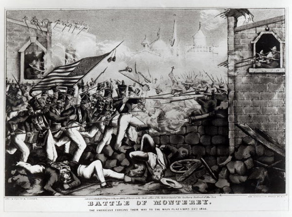 Detail of Battle of Monterey: The Americans Forcing their Way to the Main Plaza by American School