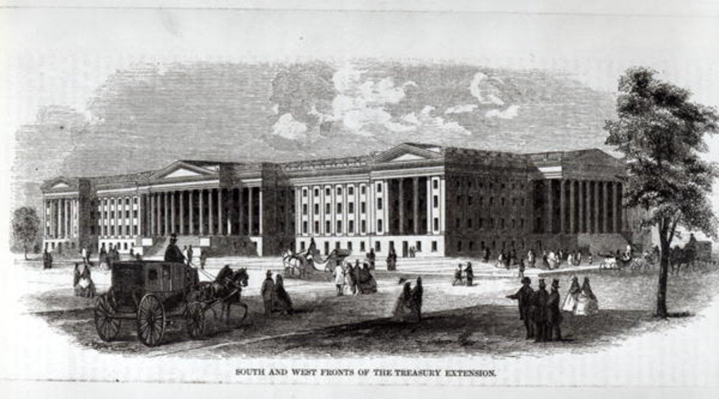 Detail of South and West Fronts of the Treasury Extension by American School