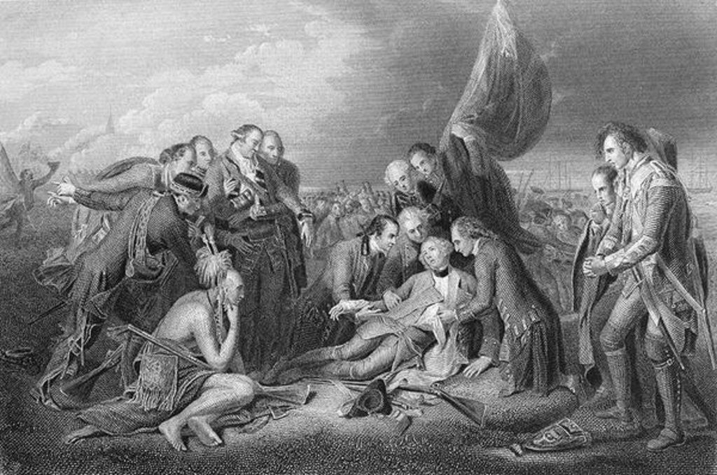 Detail of The Death of General Wolfe, 1759 by engraved by S. Smith
