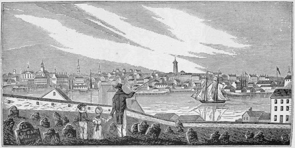 Detail of South view of Charlestown by John Warner Barber