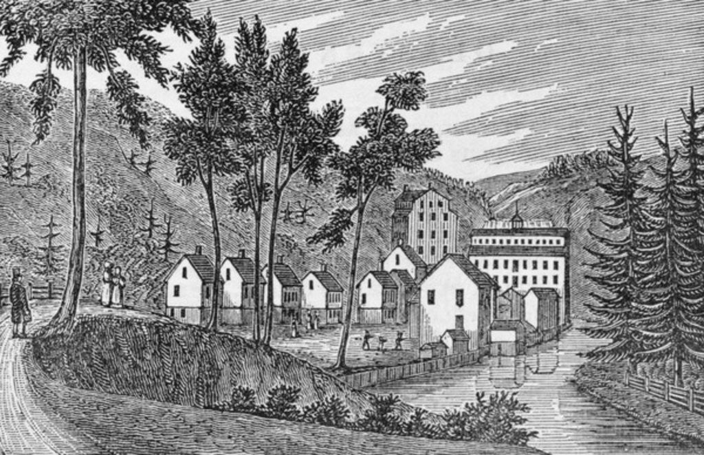 Detail of Cotton factory village, Glastenbury by American School