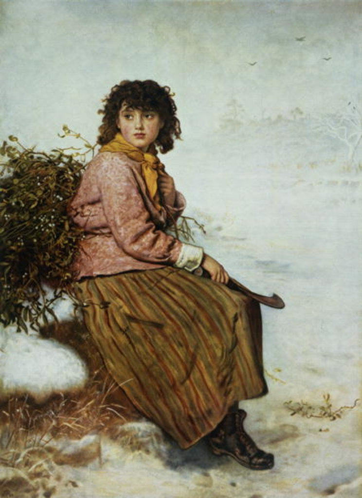Detail of The Mistletoe Gatherer by Sir John Everett Millais