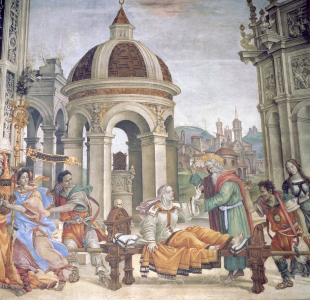Detail of The Raising of Drusiana by Filippino Lippi