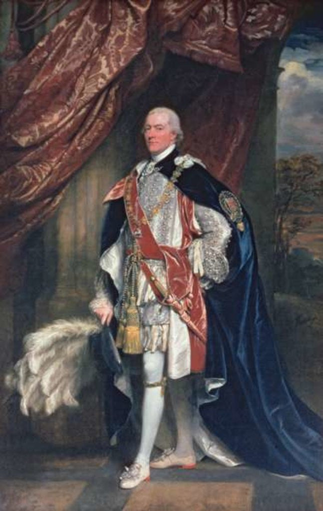 Detail of George John Spencer, 1st Lord of the Admiralty in Garter Robes by John Singleton Copley