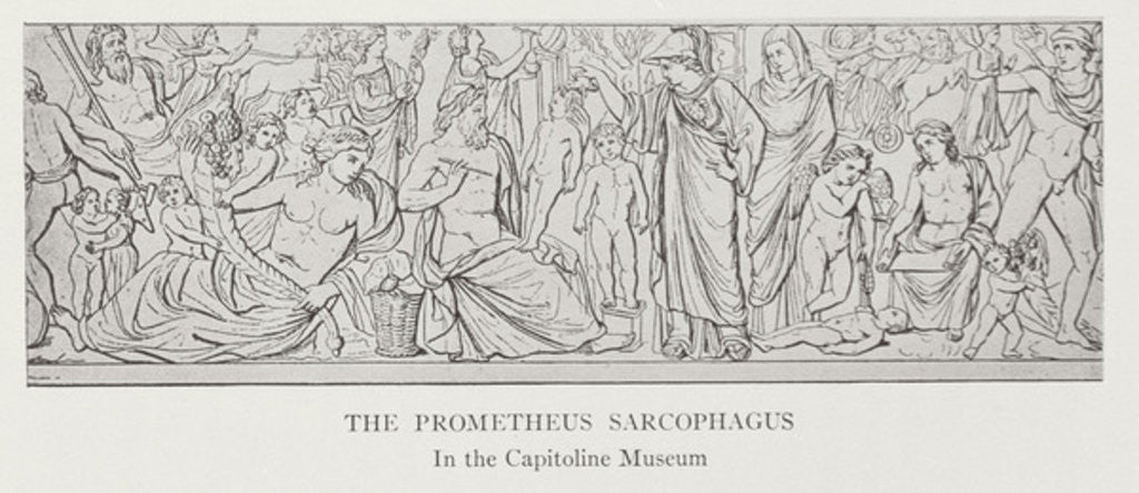 Detail of The Prometheus Sarcophagus, after the original in the Capitoline Museum by English School
