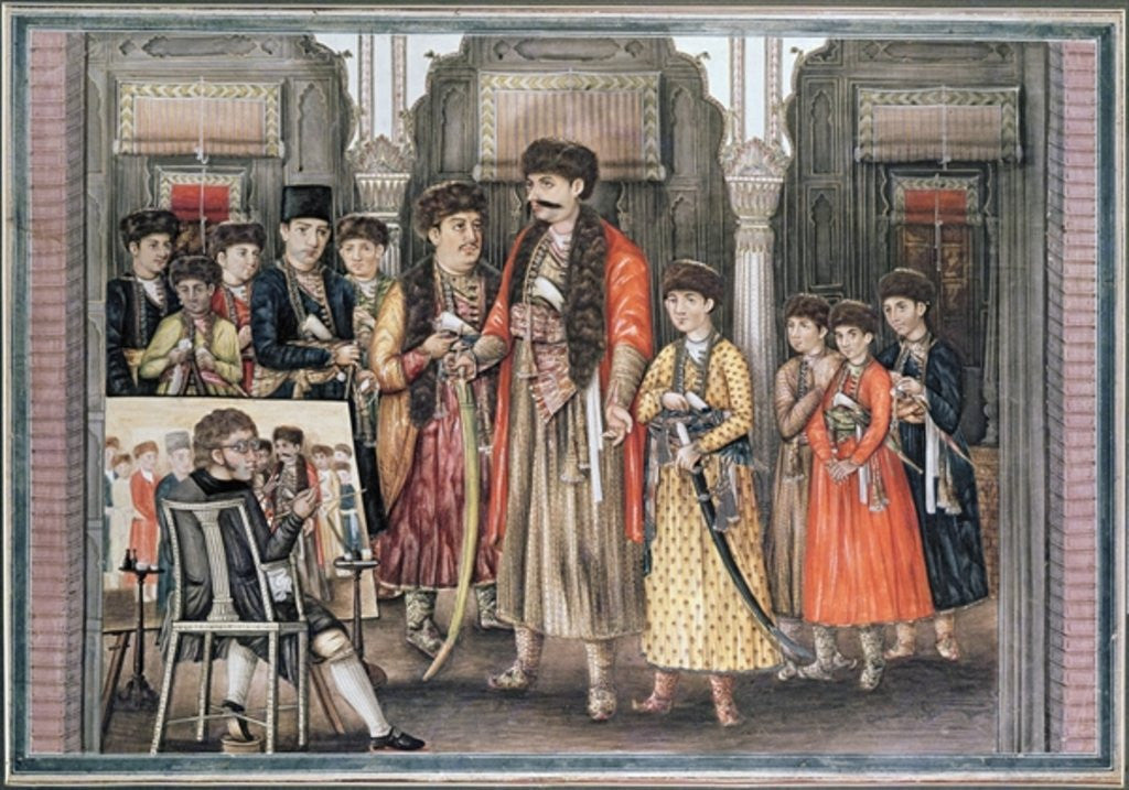 Detail of Shuja ud-daula, Nawab of Oudh and his Ten Sons by Tilly Kettle