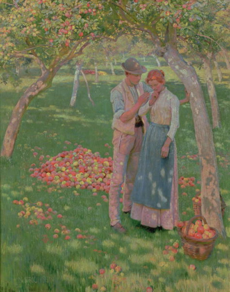 Detail of The Orchard by Nelly Erichsen