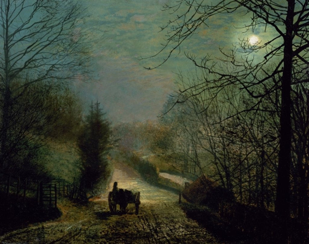 Detail of Forge Valley by John Atkinson Grimshaw