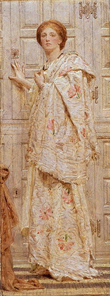 Detail of An Embroidery by Albert Joseph Moore